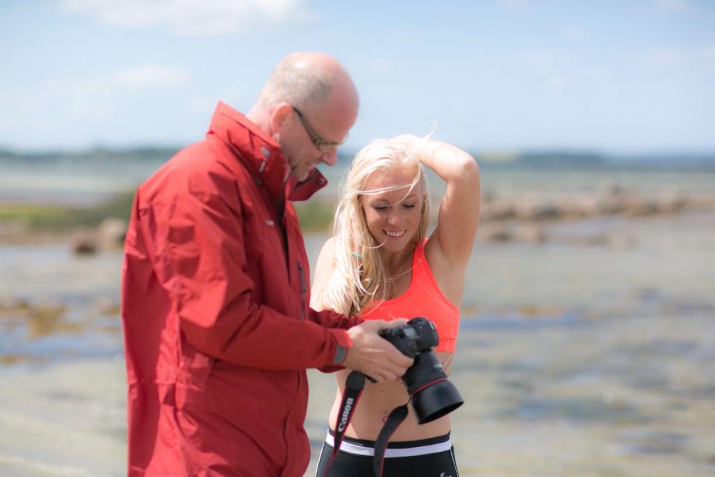Thomas Hjorth arbejder sammen med model til sommercamp på Orø